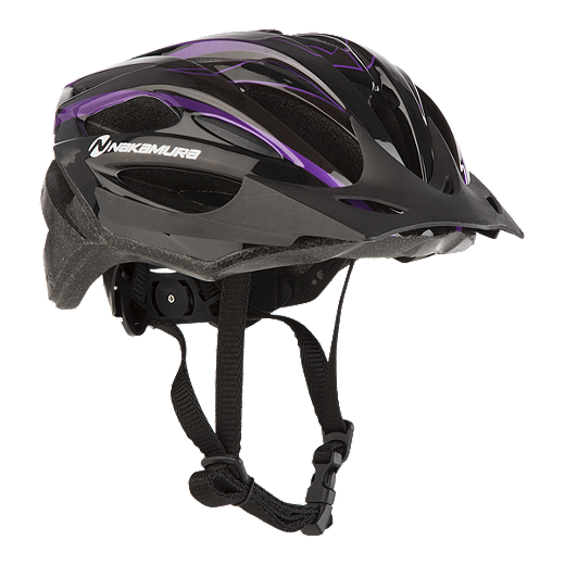 6b26289599e0 Nakamura Dart Junior Bike Helmet 2018 Black Purple by Sport Chek