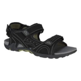 McKINLEY Men's Nelson 3 Strap Sandals - Black/Green