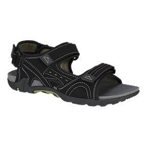 McKINLEY Men s Nelson 3 Strap Sandals - Black Green a54724690e25