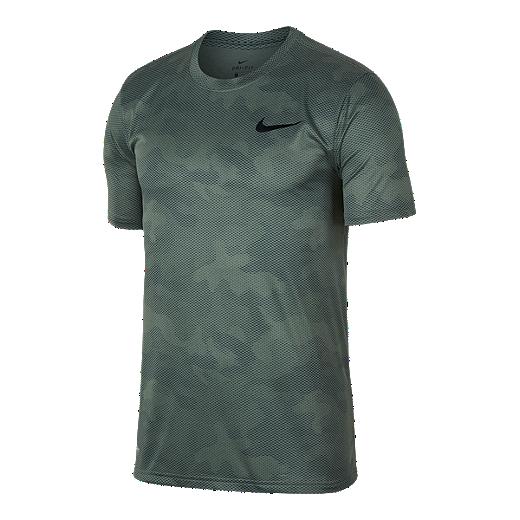 b8eec1019f760e Nike Dry Men's Legend Camo Printed T Shirt - CLAY GREEN