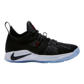 "Nike Kids' PG ""Taurus"" Grade School Basketball Shoes - Black/White/Red"