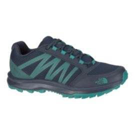 The North Face Women's FastPack Low Women's Hiking Shoes - Navy/Green
