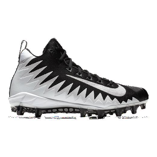 a5d1b9c44e2 Nike Men s Alpha Menace Pro Mid Football Cleats - White Silver - WHITE  SILVER