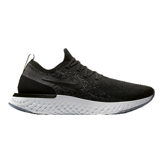 uk availability 80058 0b243 Nike Men's Epic React Flyknit Running Shoes - Black/Grey - BLACK/BLACK/