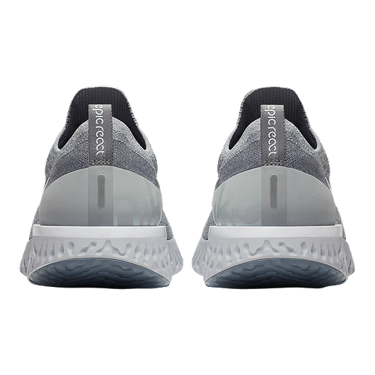 new style 39e7a a23ef Nike Men s Epic React Flyknit Running Shoes - Grey White. (1). View  Description