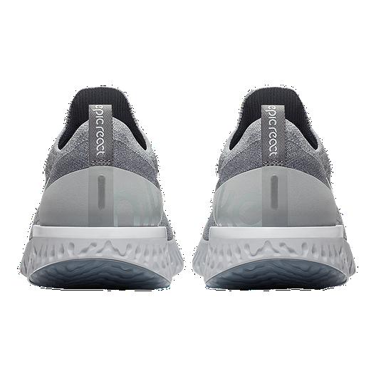 new style e321e 5e679 Nike Men s Epic React Flyknit Running Shoes - Grey White. (1). View  Description