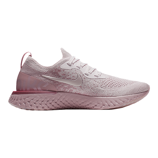 f05821ab836 Nike Women's Epic React Flyknit Running Shoes - Pearl Pink/Rose ...