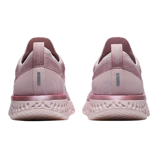 3a672709ac82a Nike Women s Epic React Flyknit Running Shoes - Pearl Pink Rose. (1). View  Description