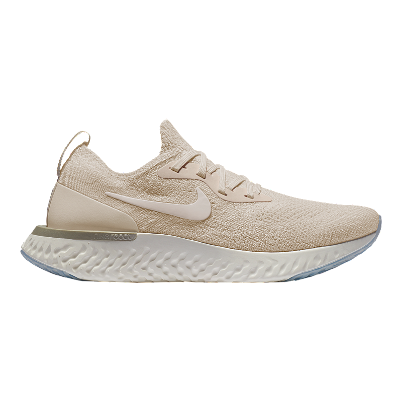5d3156cf8462 Nike Women s Epic React Flyknit Running Shoes - Cream White Yellow ...