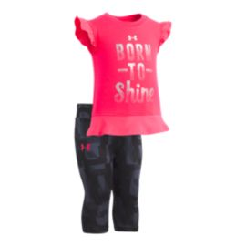 Under Armour Baby Girls' Born To Shine Set