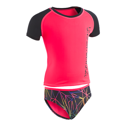 b6e10486c3f Under Armour Baby Girls' Poly Prism Rashguard Set | Sport Chek