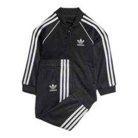 adidas Originals Baby Superstar Track Top & Bottoms Set - Black
