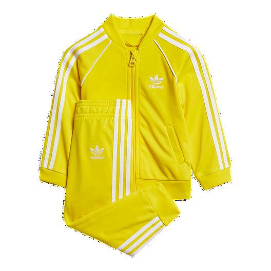 ac2434678e9 adidas Originals Baby Superstar Track Top & Bottoms Set - Yellow | Sport  Chek