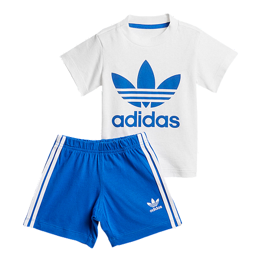 e7334875 adidas Originals Baby Short Tee Set - White/Blue - WHITE / BLUE
