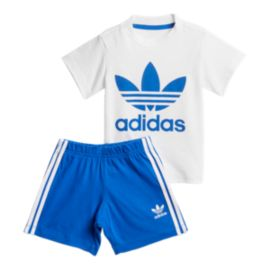 adidas Originals Baby Short Tee Set - White/Blue
