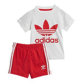 054731fc6 adidas Originals Baby Short Tee Set - White Scarlet