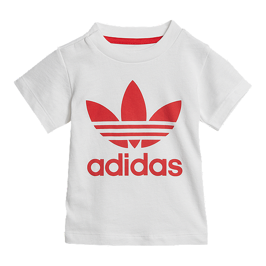 74a2da77aaa adidas Originals Baby Short Tee Set - White/Scarlet | Sport Chek