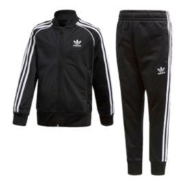 adidas Originals Kids' 5-7 Superstar Top & Bottoms Set - Black