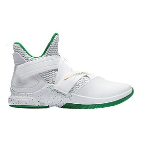 d7ea40282f41 Nike Men s LeBron Soldier XII Basketball Shoes - White Multi