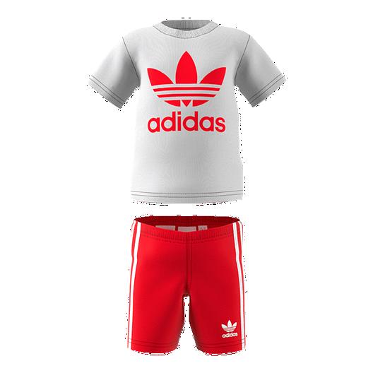d0ff53ececa adidas Originals Toddler 2-4 Short Tee Set - White/Scarlet | Sport Chek