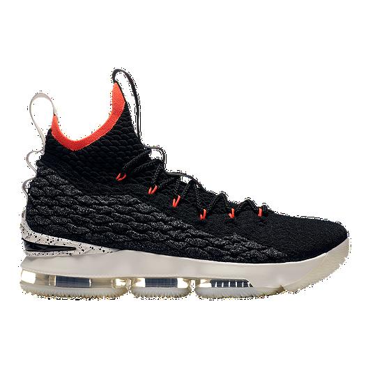 3d0bda3bf3 Nike Men's LeBron 15 Basketball Shoes - Black/Sail/Crimson | Sport Chek