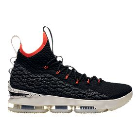 5eb01dc3a066d9 Nike Men s LeBron 15 Basketball Shoes - Black Sail Crimson