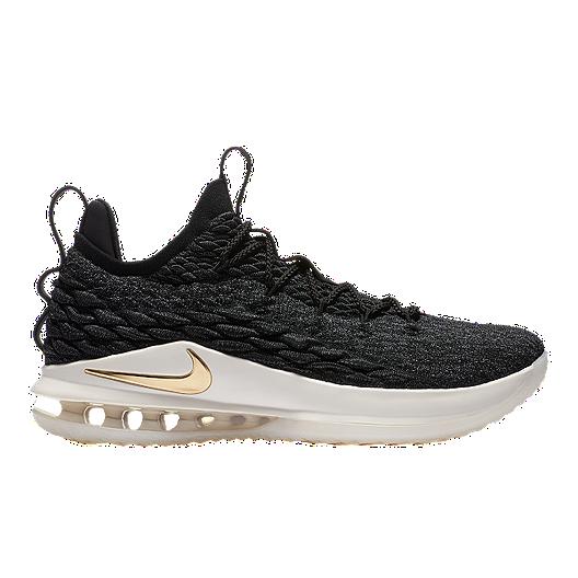 98473df1cdd Nike Men s LeBron 15 Low Basketball Shoes - Black Gold