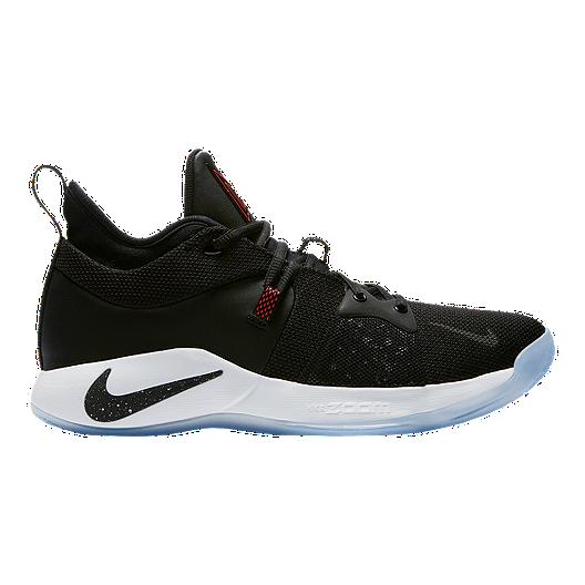 40da58bf4e4 Nike Men s PG 2 Basketball Shoes - Black White Red