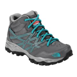 The North face Girls' Hedgehog Hiker Mid Waterproof Hiking Boots - Grey/Teal