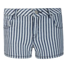 Roxy Girls' Young Heart Striped Denim Shorts