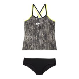 Nike Girls' Spiderback Rush Heather Tankini
