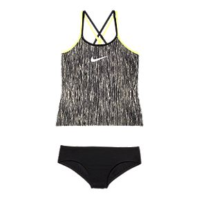 ab429200b6ad Nike Girls  Spiderback Rush Heather Tankini