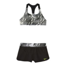 Nike Girls' Racerback Bikini With Shorts Set