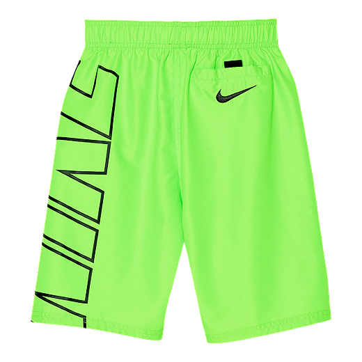 2b3f0015dc Nike Boys' 4-7 6 Inch Solid Volley Swim Shorts - GREEN STRIKE