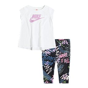 6fcf1f076 Nike Sportswear Baby Girls' Tunic with Fresh Prints & Capri Pants Set
