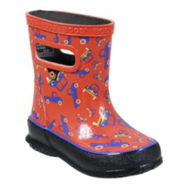 Bogs Kids' Skipper Trucks Preschool Rain Boots - Red