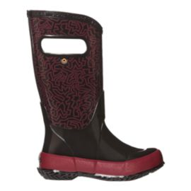 Bogs Kids' Maze Rain Boots - Black/Red