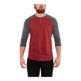 Gongshow Men's Off The Iron 3/4 Raglan Henley Shirt