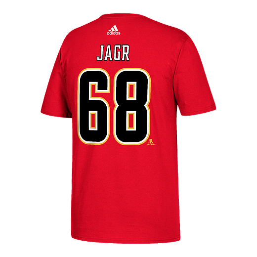 quality design 5d7dc a3fd4 Calgary Flames adidas Jaromir Jagr Player T Shirt