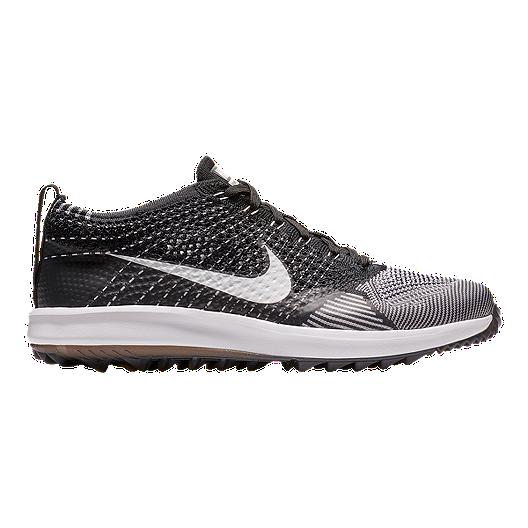 ba3a4970fedd Nike Flyknit Racer G Golf Shoes - Black White