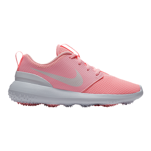 finest selection 40847 479db Nike Girls  Roshe Junior Golf Shoes - Pink White   Sport Chek