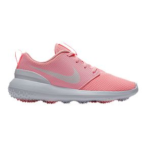 5a9c357b9c Nike Girls' Roshe Junior Golf Shoes - Pink/White