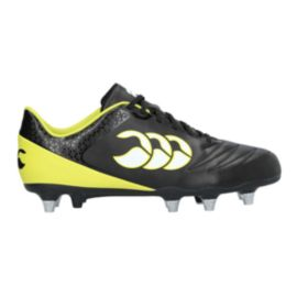 Canteburry Men's Stampede 2.0 Club SG Rugby Cleats - Black/Sulphur