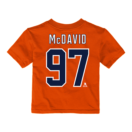 the latest 61c53 9a726 Edmonton Oilers Toddler Connor McDavid Player T Shirt
