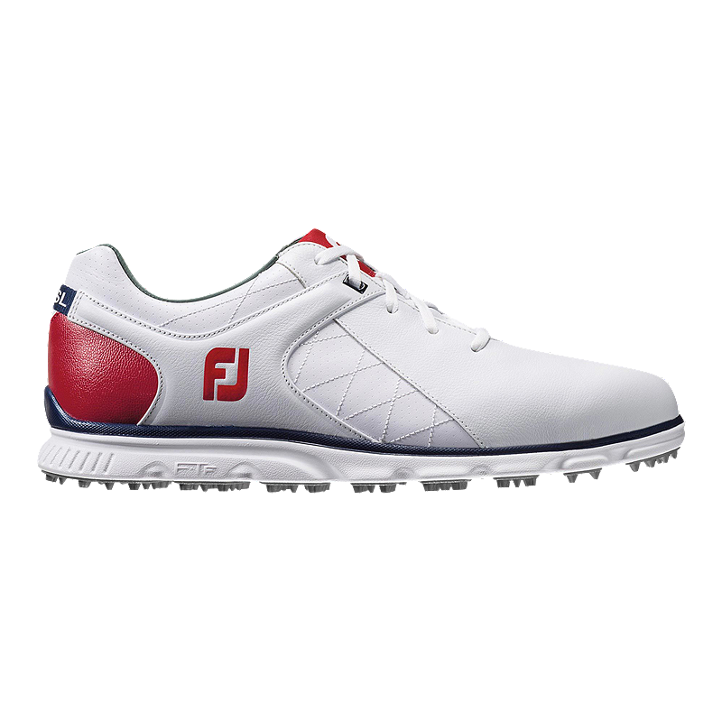710dc31559d750 Footjoy Men s Pro SL Golf Shoes - Red White