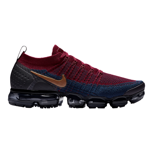 8dc3b0725985a Nike Men s Air Vapormax Flyknit 2 Running Shoes - Red Brown Black ...