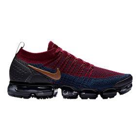 Nike Men s Air Vapormax Flyknit 2 Running Shoes - Red Brown Black bcfd1c326