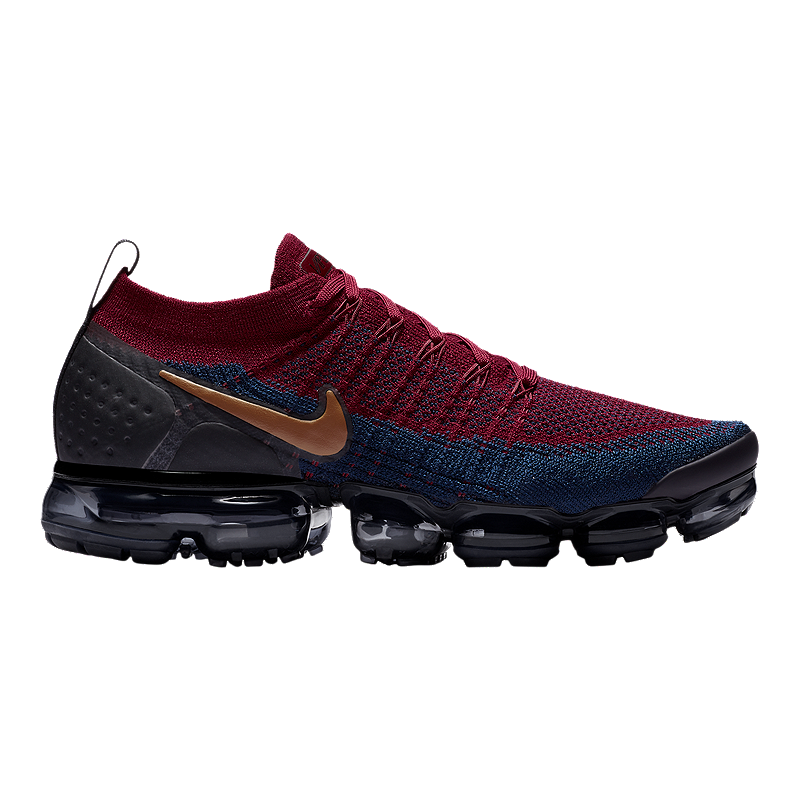 Nike Men s Air Vapormax Flyknit 2 Running Shoes - Red Brown Black ... b89dac7b5