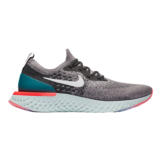 421f4f6d35b6 Nike Men s Epic React Flyknit Running Shoes - Grey White Teal ...