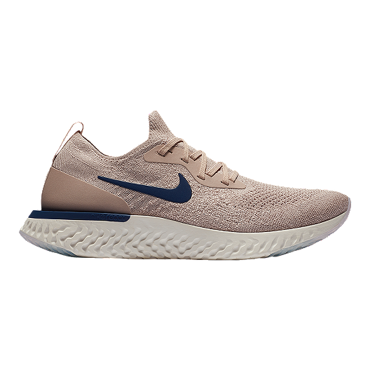 02aea0b20bb7c Nike Men s Epic React Flyknit Running Shoes - Taupe Blue Grey ...